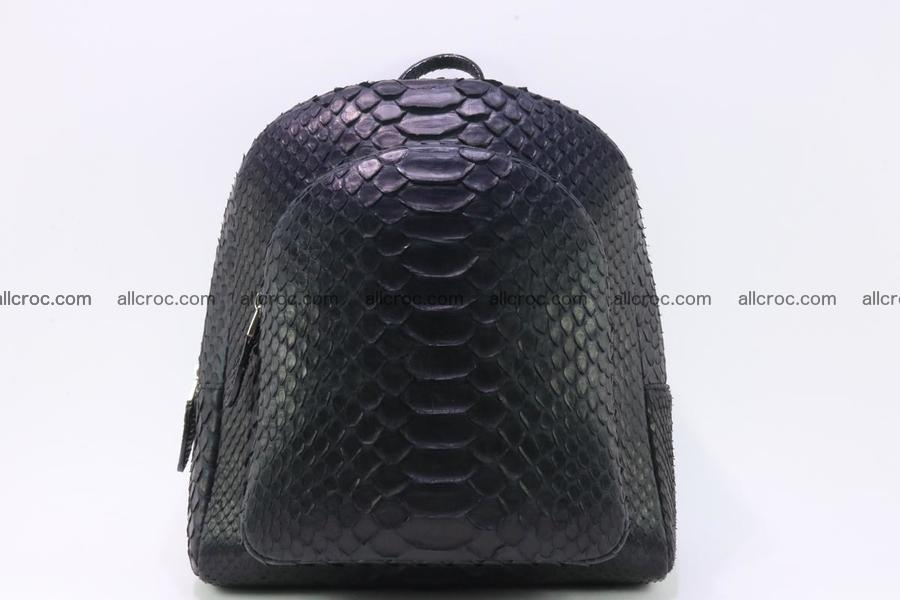Backpack from genuine python skin 222