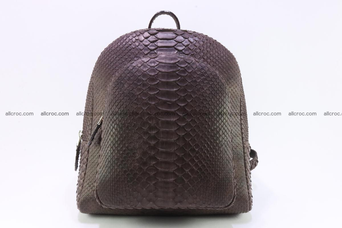 Backpack from genuine python skin 225 Foto 0