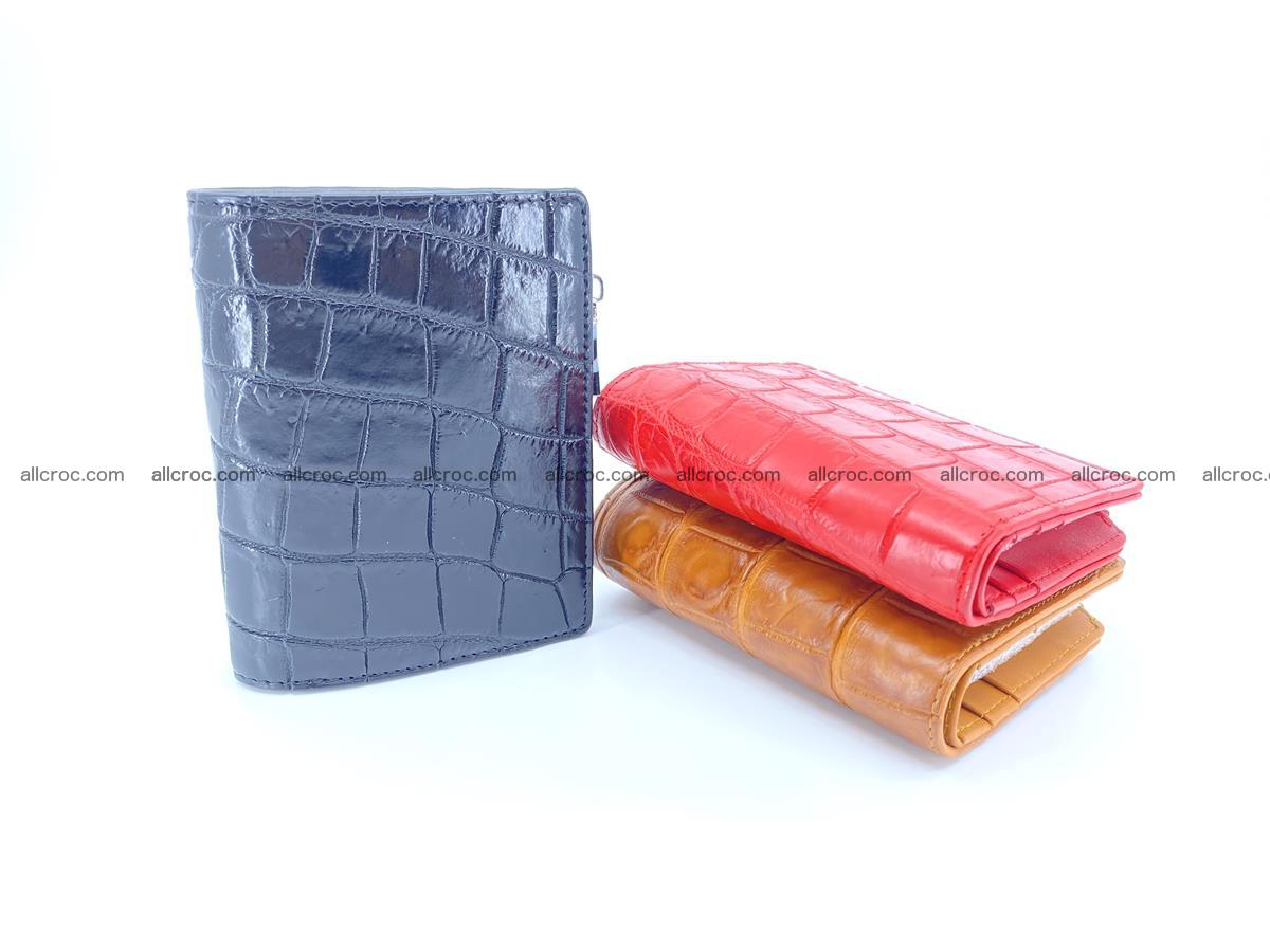 Crocodile leather vertical wallet HK 634 Foto 7