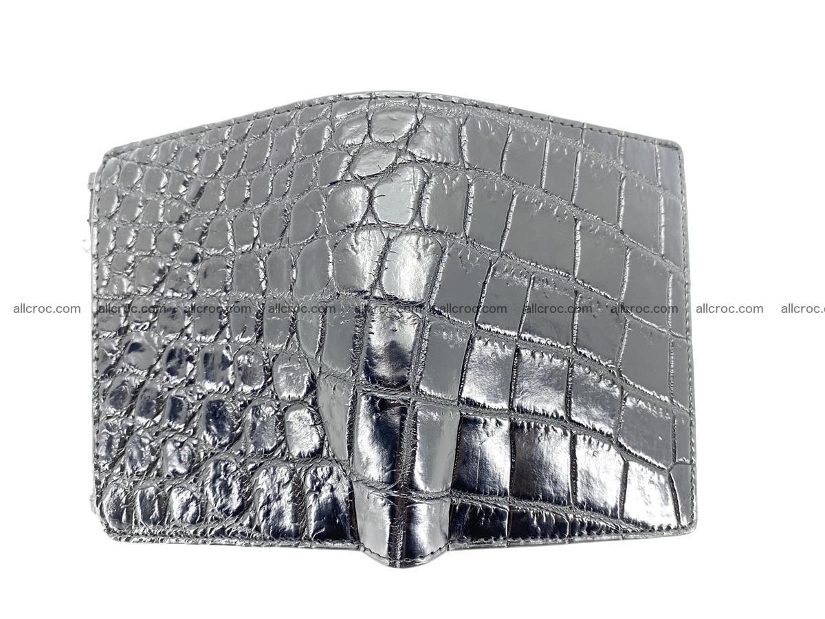 Crocodile leather vertical wallet HK 634 Foto 2