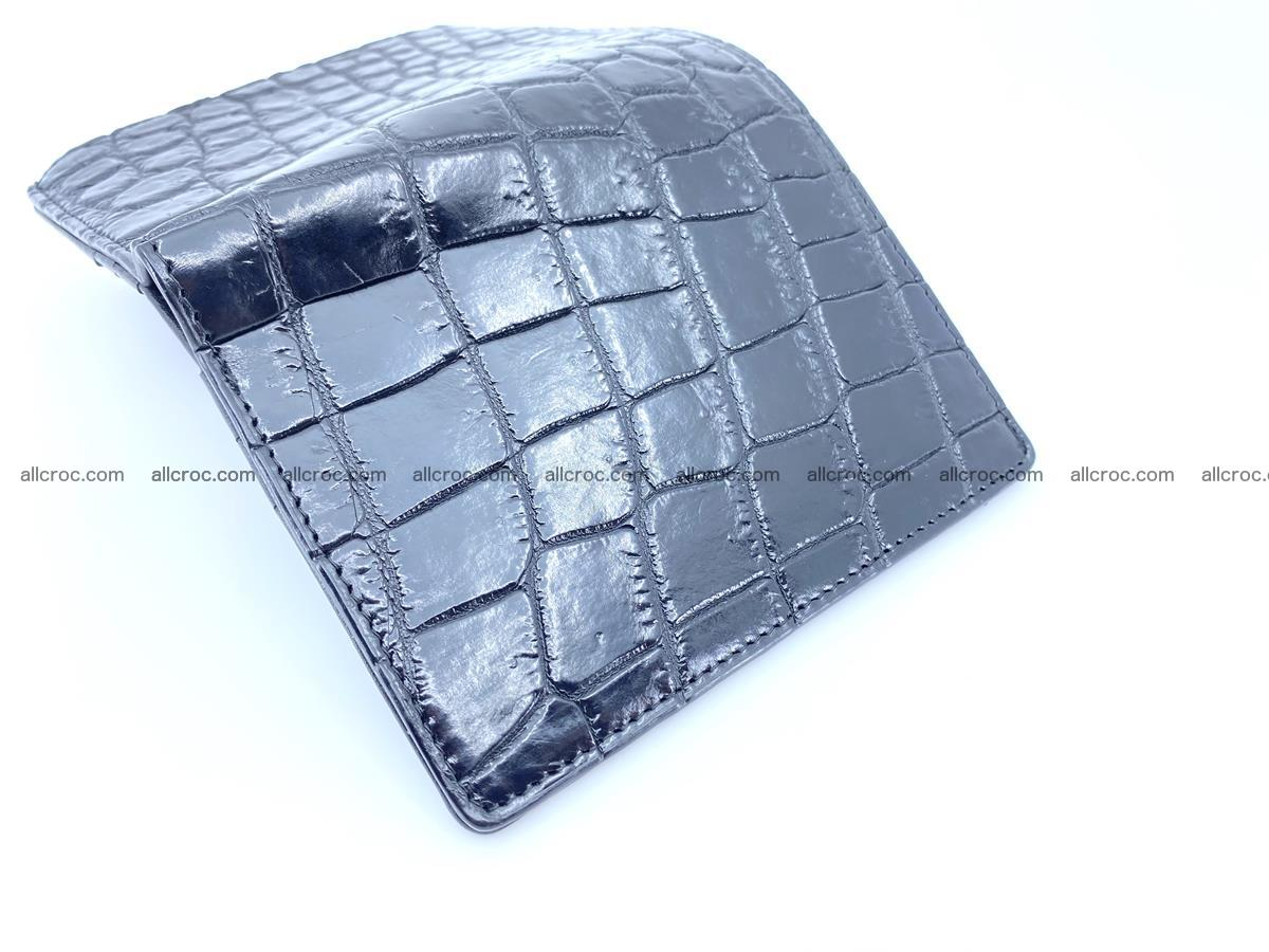 Crocodile leather vertical wallet HK 634 Foto 3