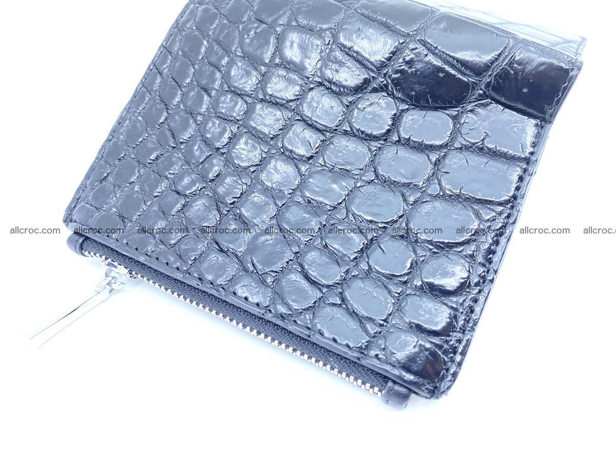 Crocodile leather vertical wallet HK 634 Foto 4