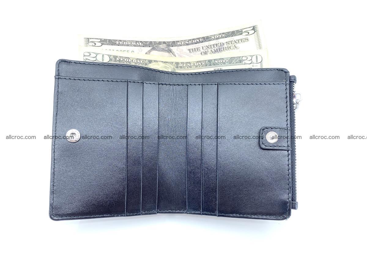 Crocodile leather vertical wallet HK 634 Foto 5