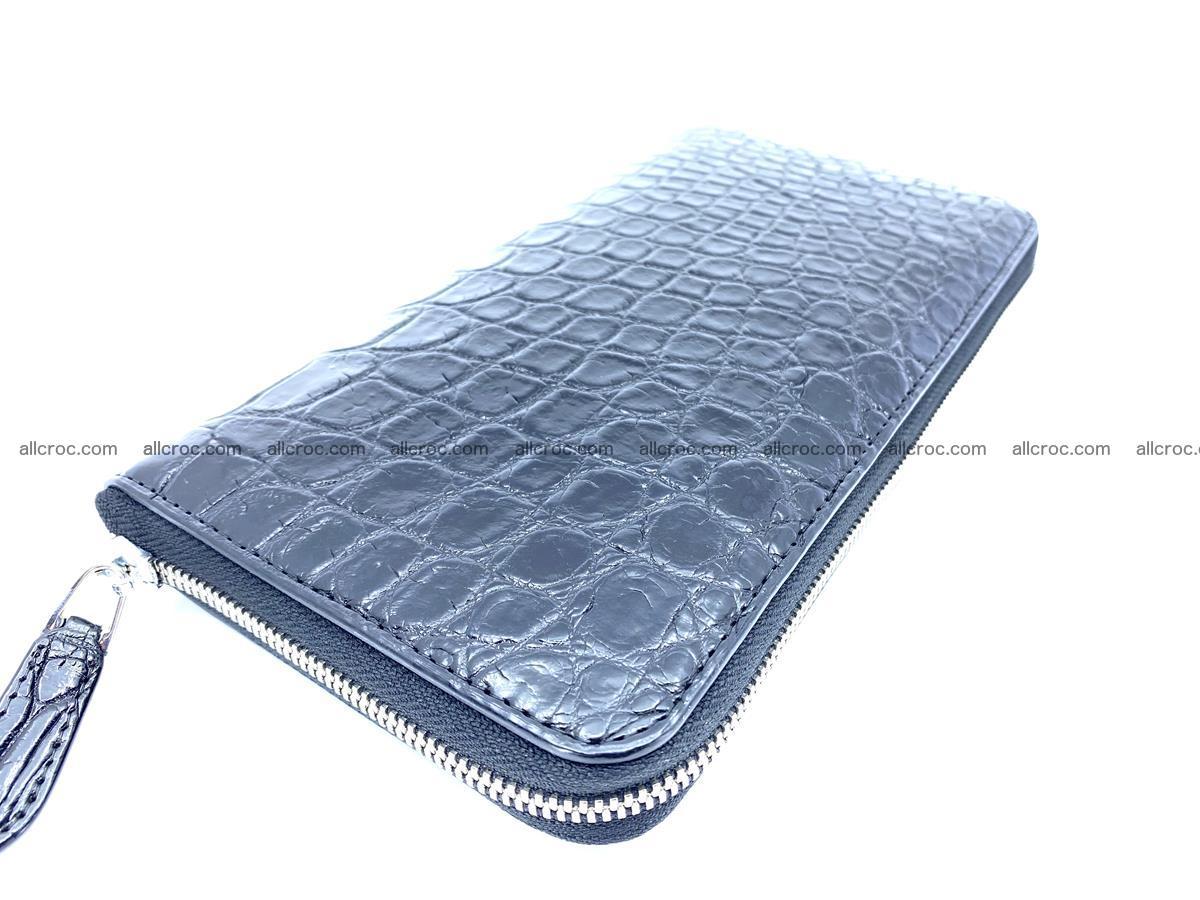 Crocodile skin zip wallet XL-size 600 Foto 1