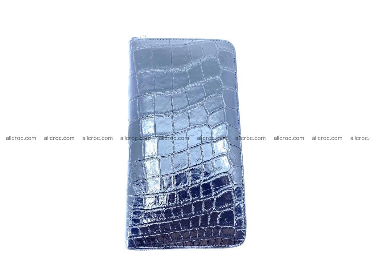 Crocodile skin zip wallet XL-size 600 Foto 4