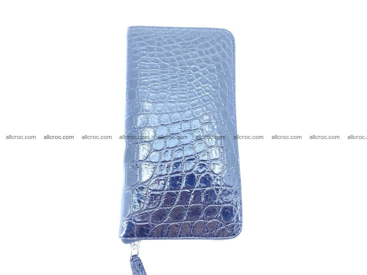 Crocodile skin zip wallet XL-size 600 Foto 5