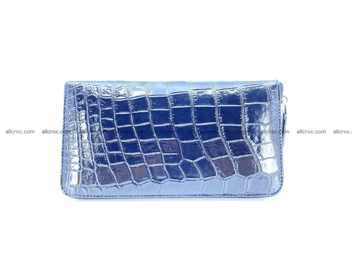 Crocodile skin zip wallet XL-size 600 Foto 2