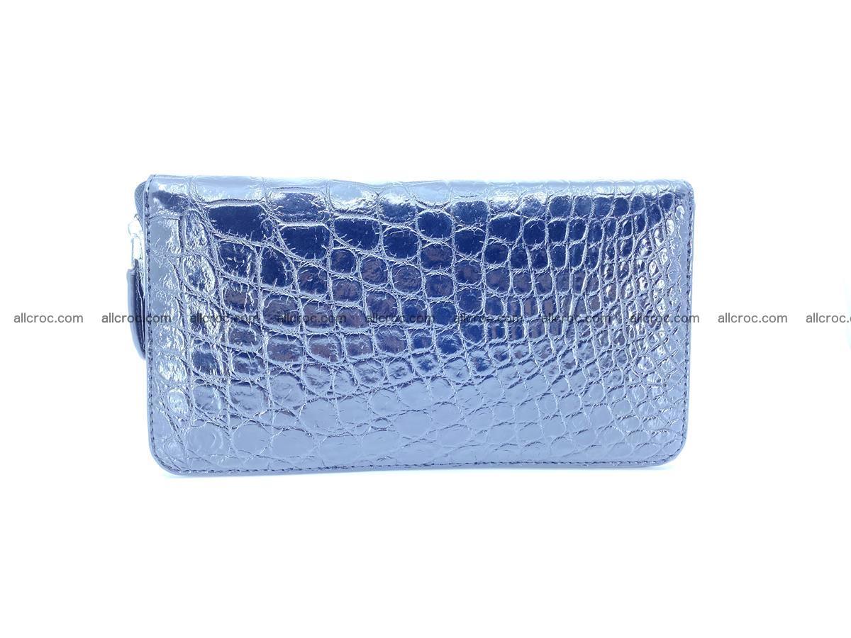 Crocodile skin zip wallet XL-size 600 Foto 3