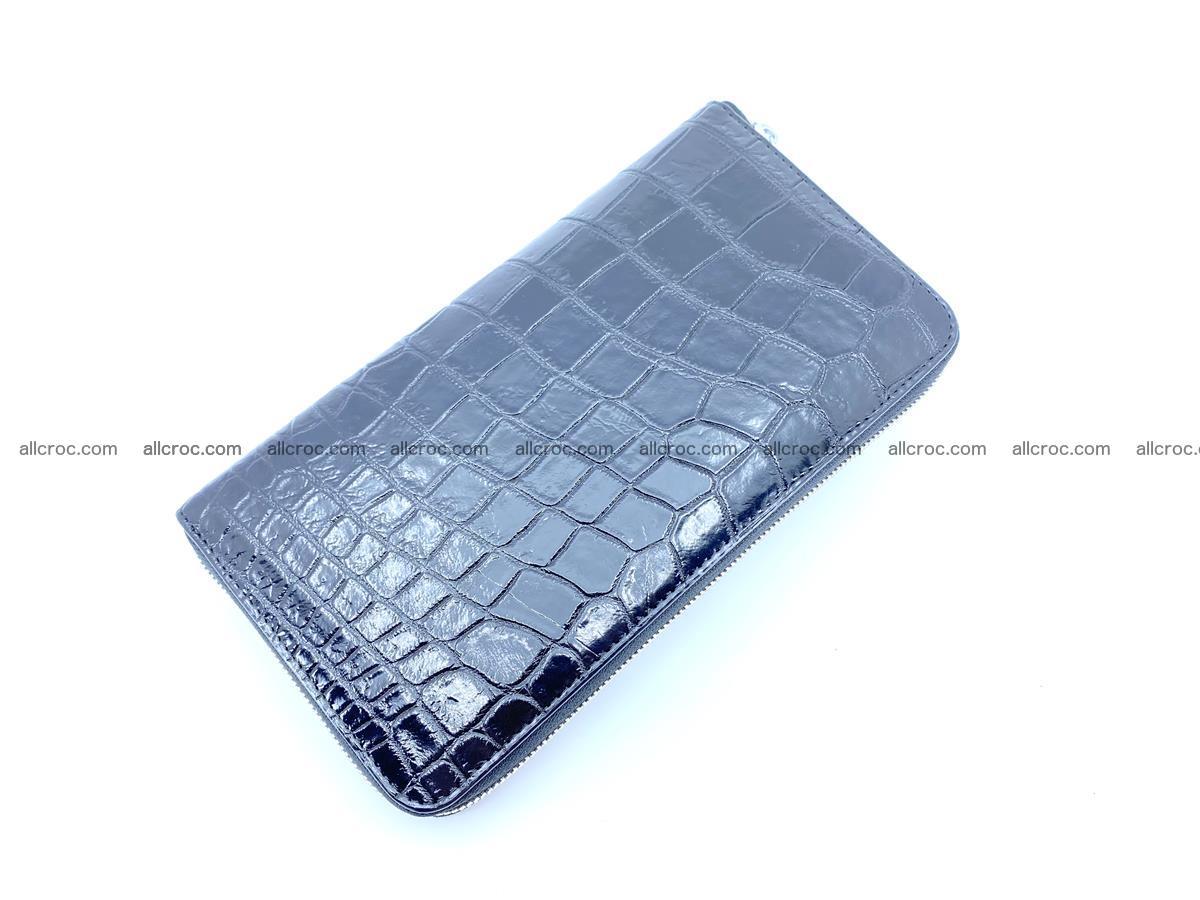 Crocodile skin zip wallet XL-size 600 Foto 6