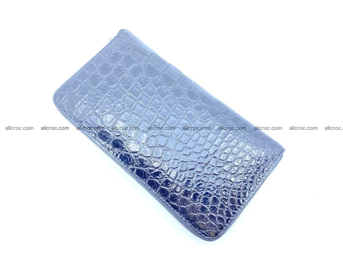 Crocodile skin zip wallet XL-size 600 Foto 7