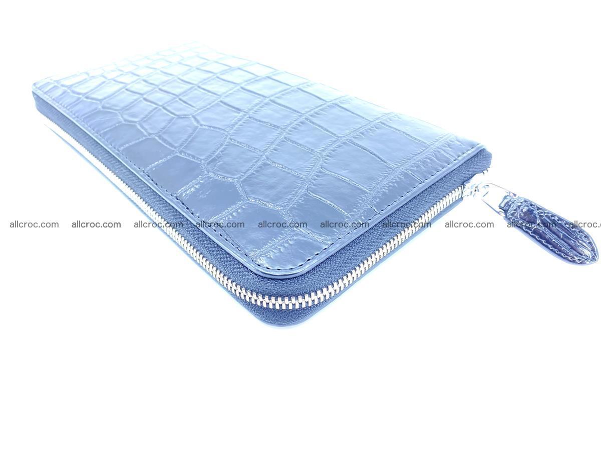 Crocodile skin zip wallet XL-size 600 Foto 8