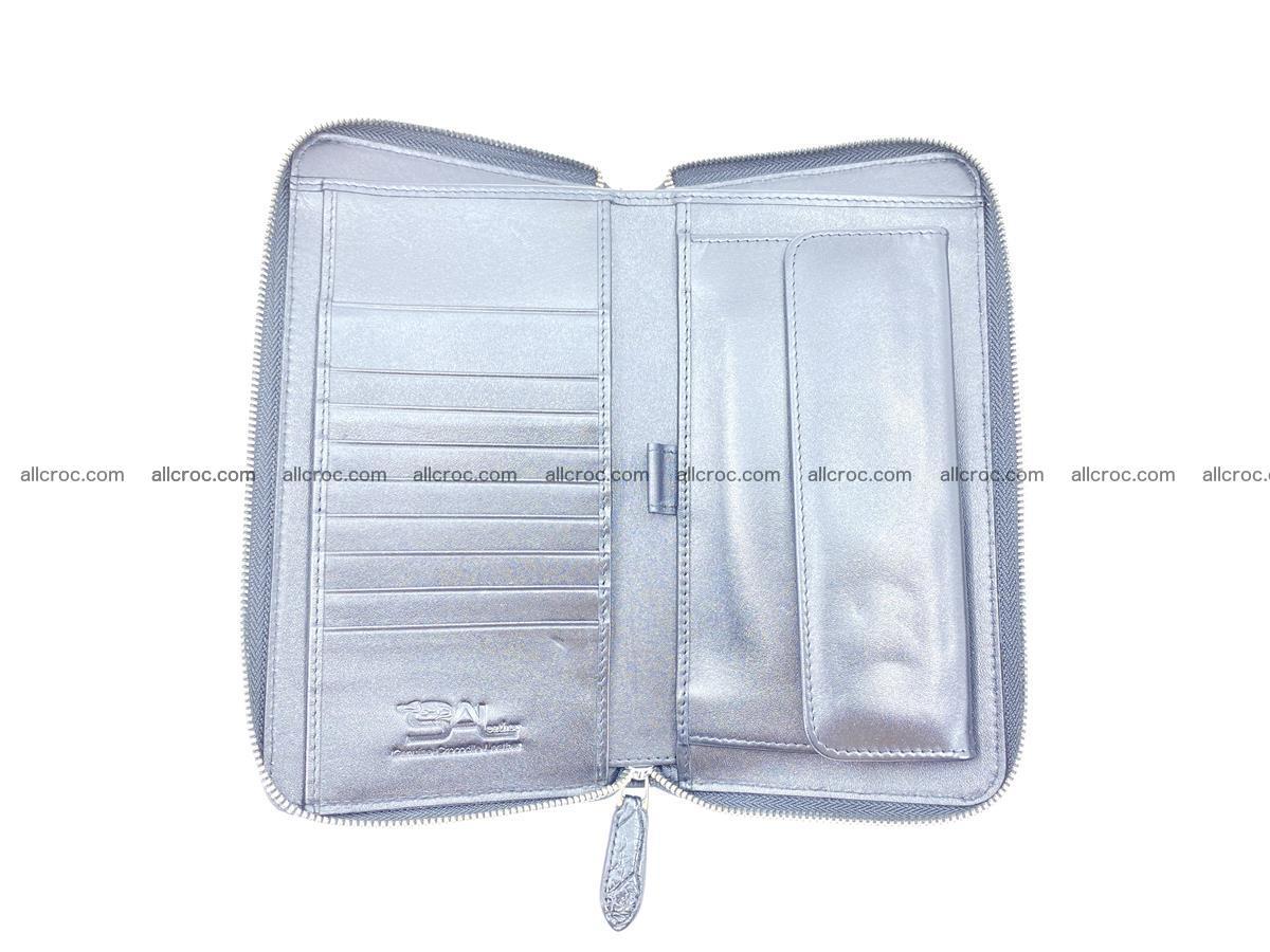 Crocodile skin zip wallet XL-size 600 Foto 12