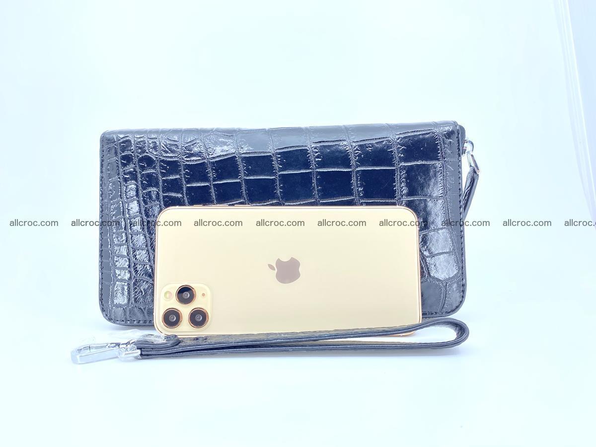Crocodile skin zip wallet XL-size 600 Foto 13