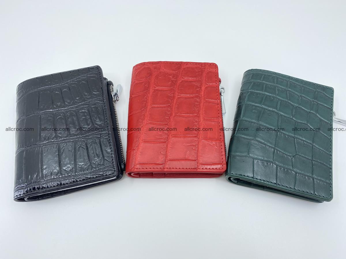 Crocodile leather vertical wallet HK 633 Foto 11