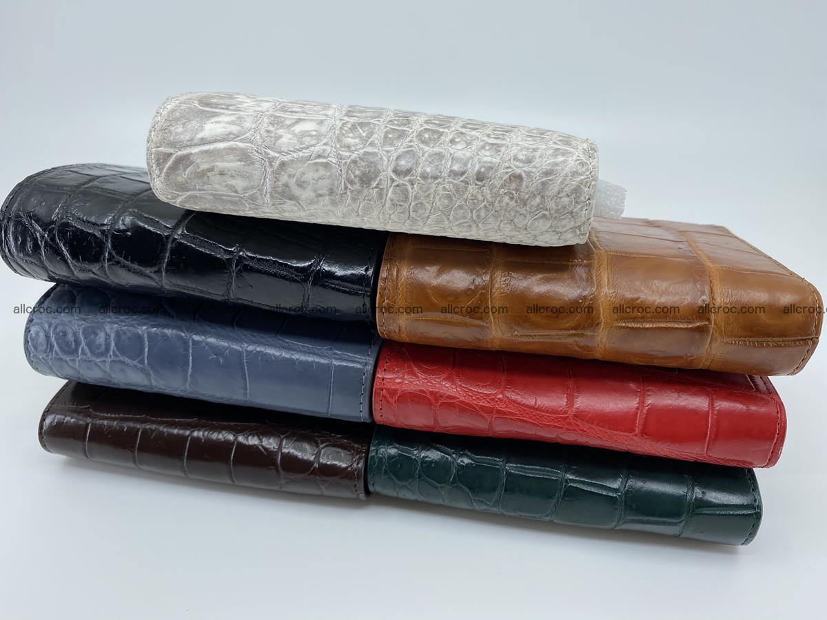 Crocodile leather vertical wallet HK 633 Foto 13
