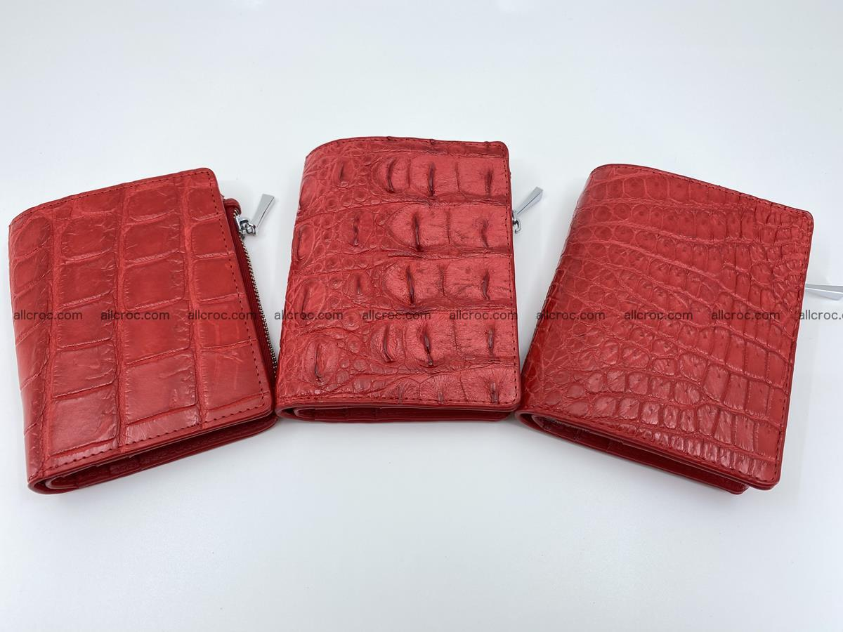 Crocodile leather vertical wallet HK 633 Foto 8