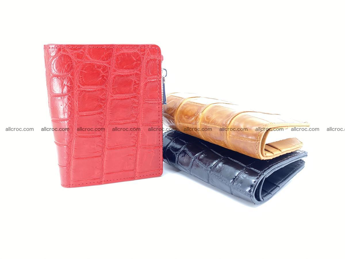 Crocodile leather vertical wallet HK 633 Foto 7