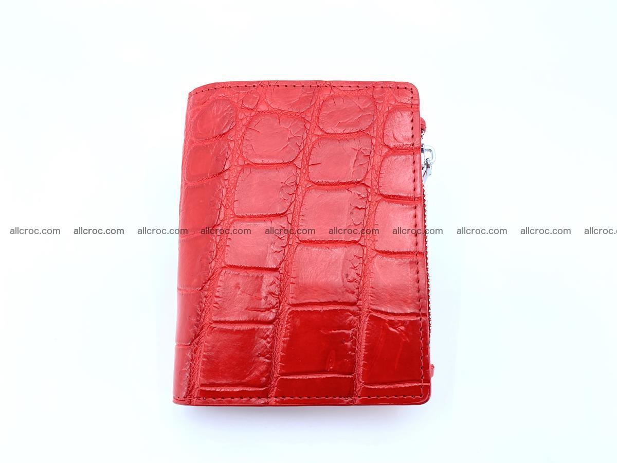 Crocodile leather vertical wallet HK 633 Foto 0