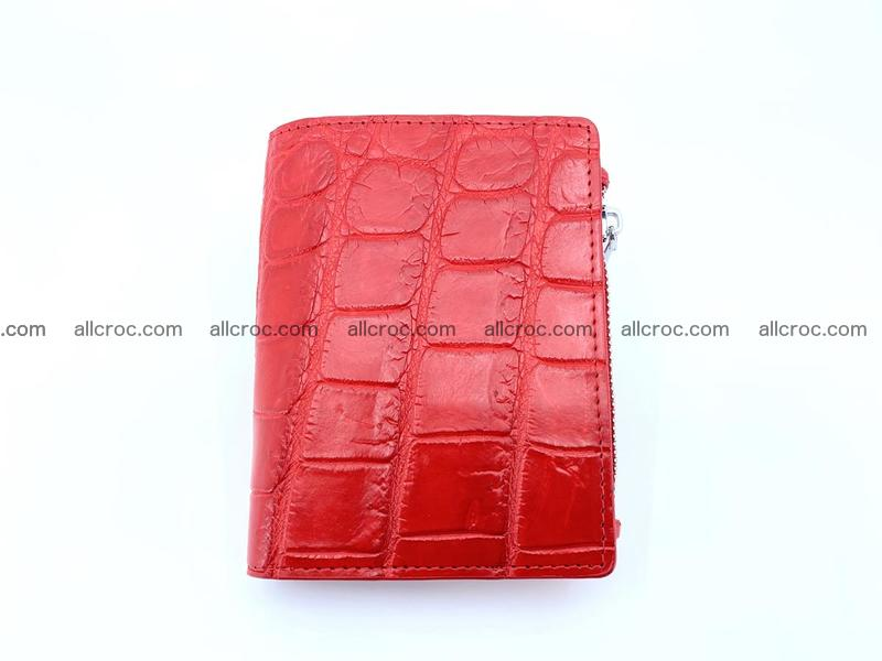 Crocodile leather vertical wallet HK 633