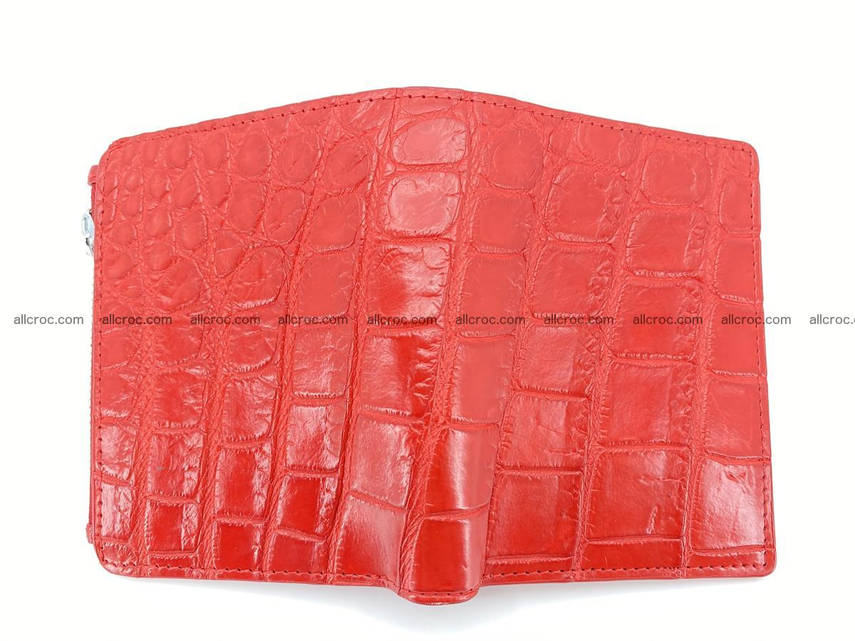 Crocodile leather vertical wallet HK 633 Foto 2