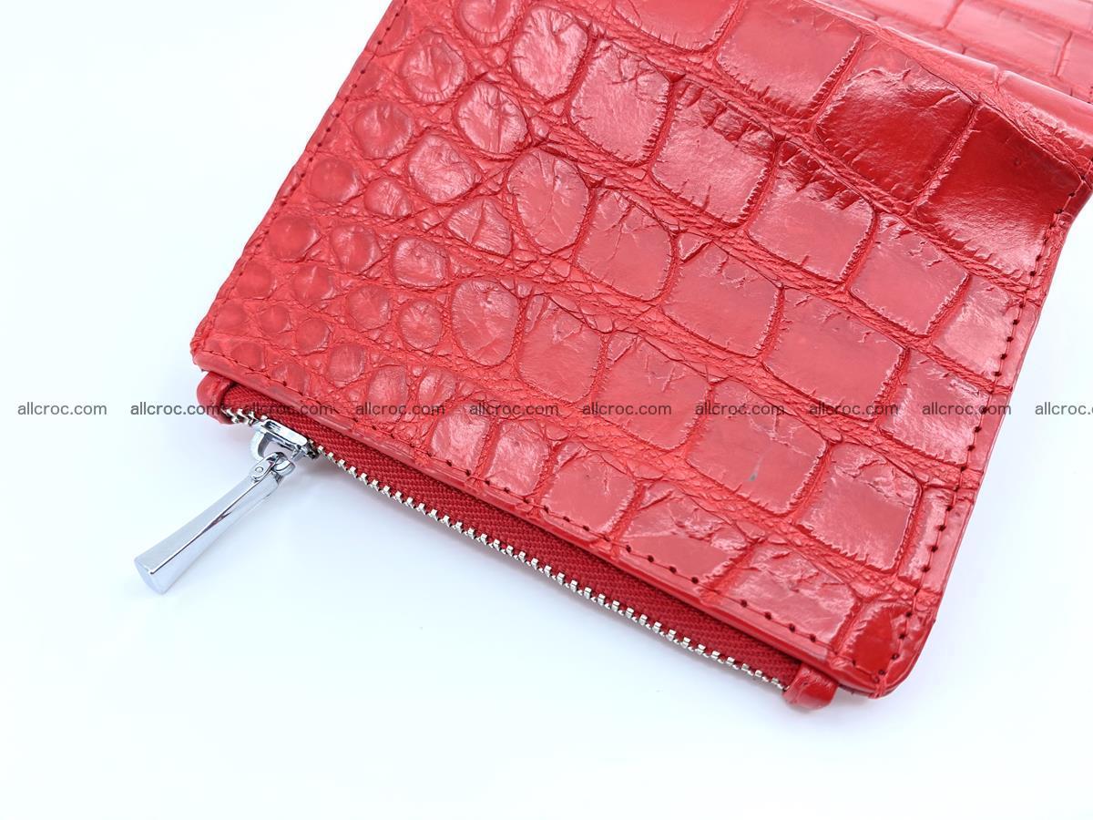 Crocodile leather vertical wallet HK 633 Foto 3