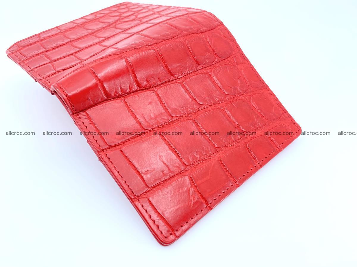 Crocodile leather vertical wallet HK 633 Foto 4