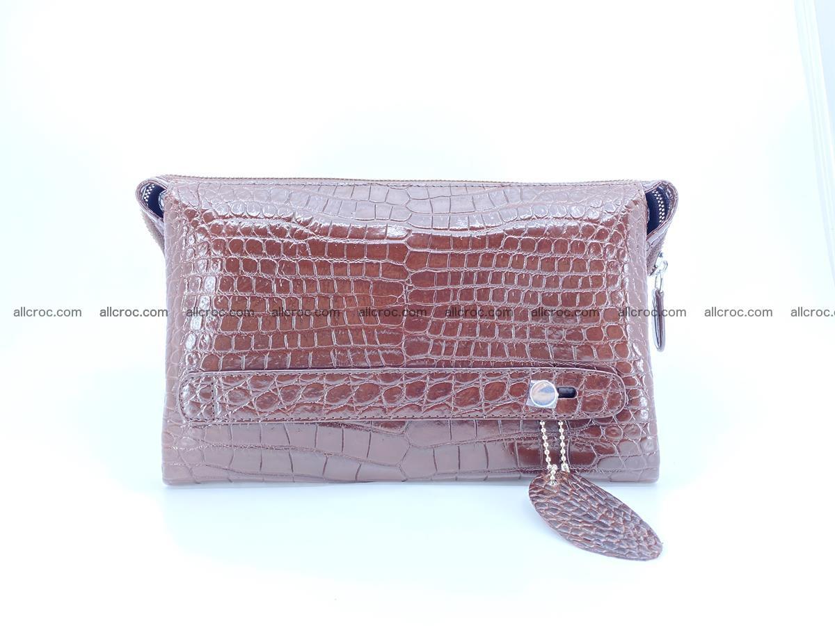 Crocodile leather clutch 1 zip 591 Foto 1