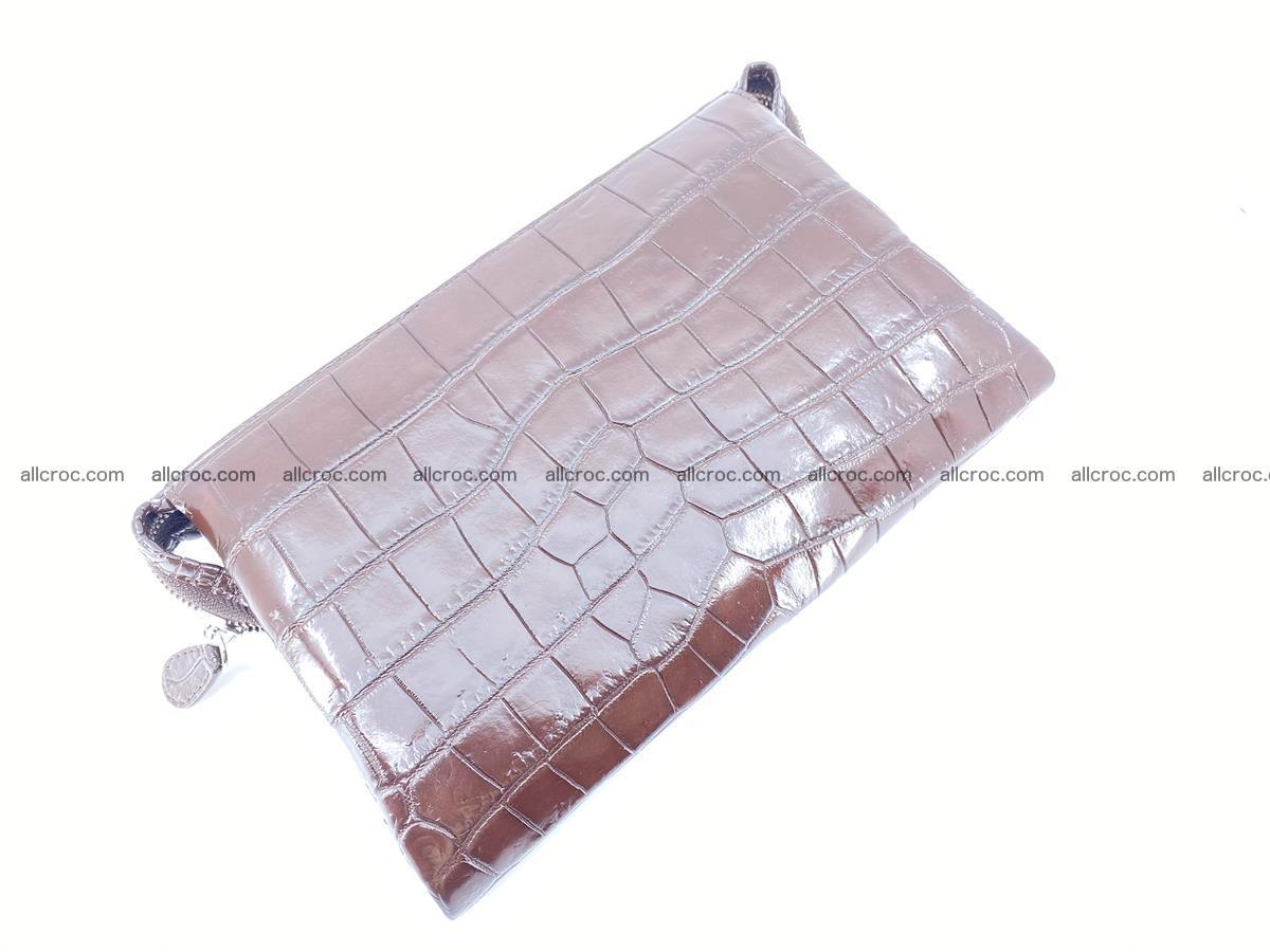 Crocodile leather clutch 1 zip 591 Foto 2