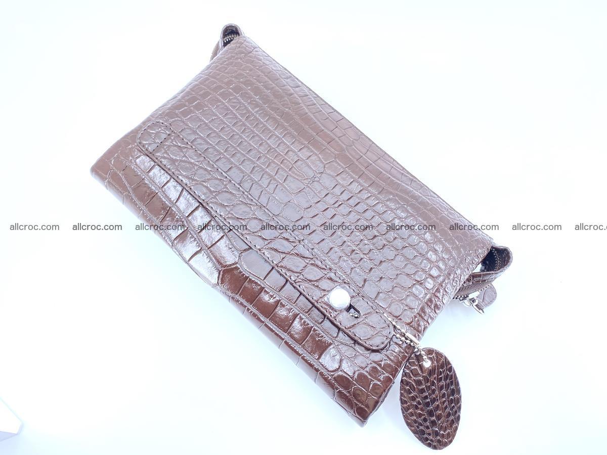 Crocodile leather clutch 1 zip 591 Foto 3
