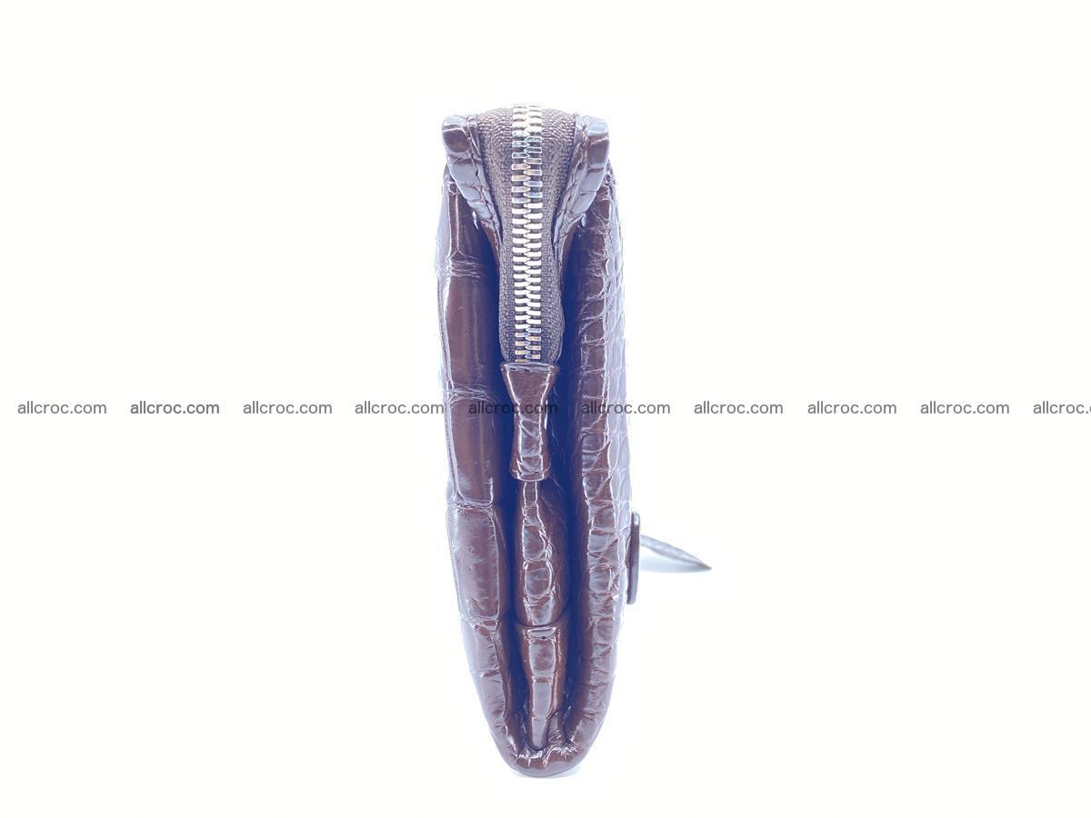 Crocodile leather clutch 1 zip 591 Foto 4