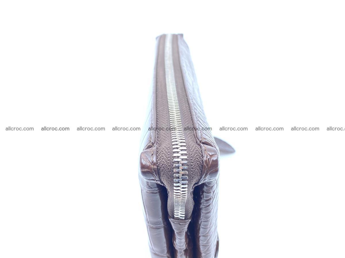 Crocodile leather clutch 1 zip 591 Foto 5
