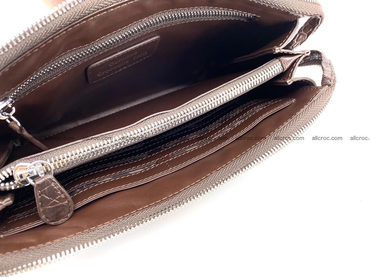 Crocodile leather clutch 1 zip 591 Foto 7