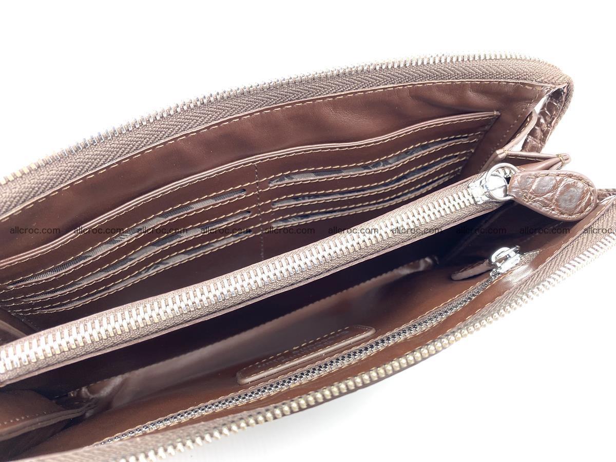 Crocodile leather clutch 1 zip 591 Foto 8