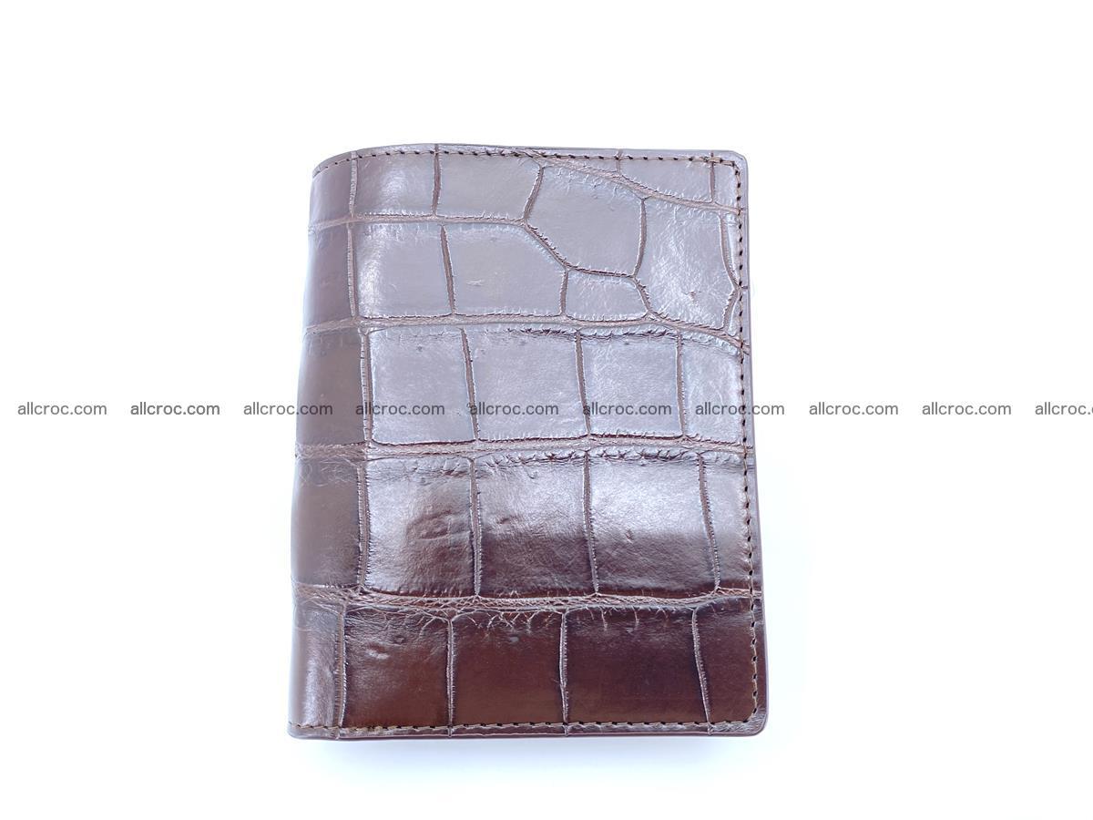 Crocodile leather vertical wallet HK 632 Foto 0