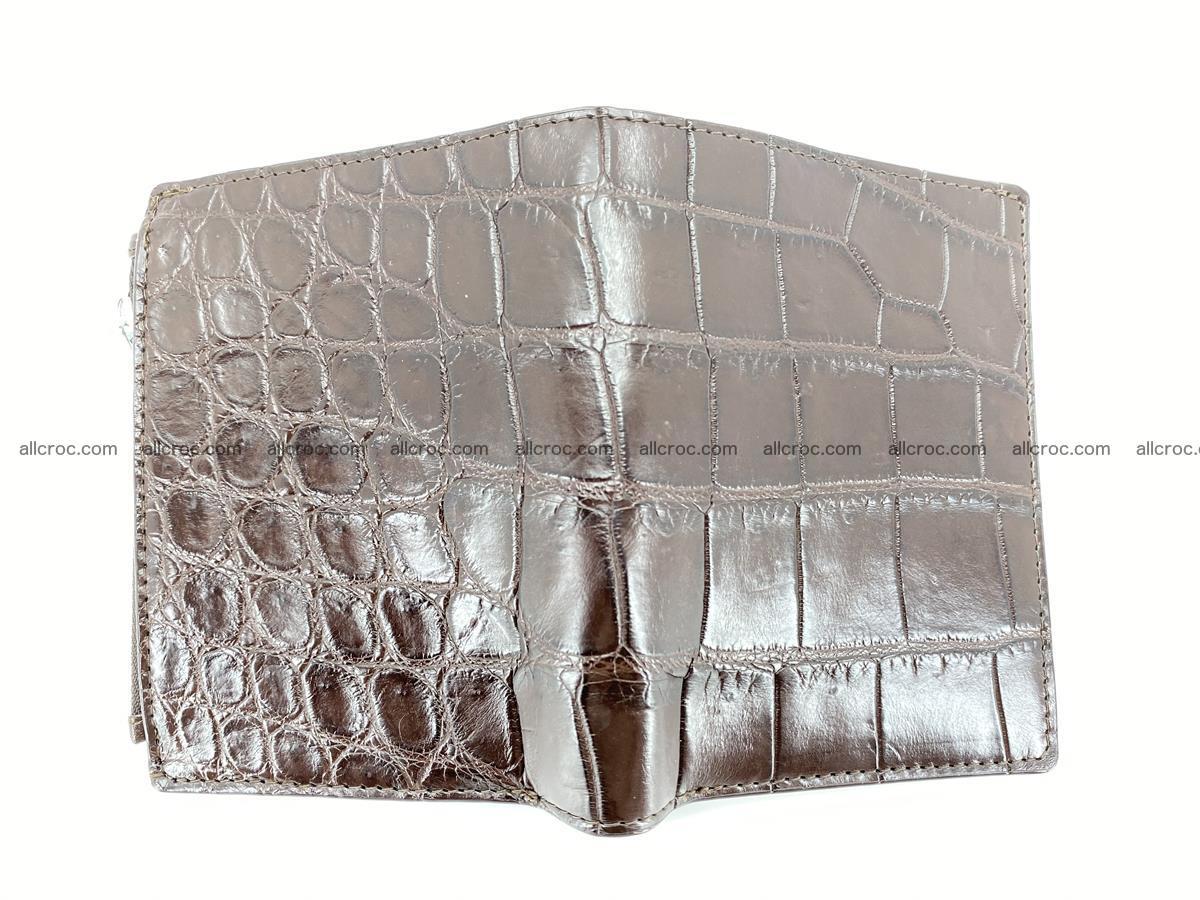 Crocodile leather vertical wallet HK 632 Foto 2