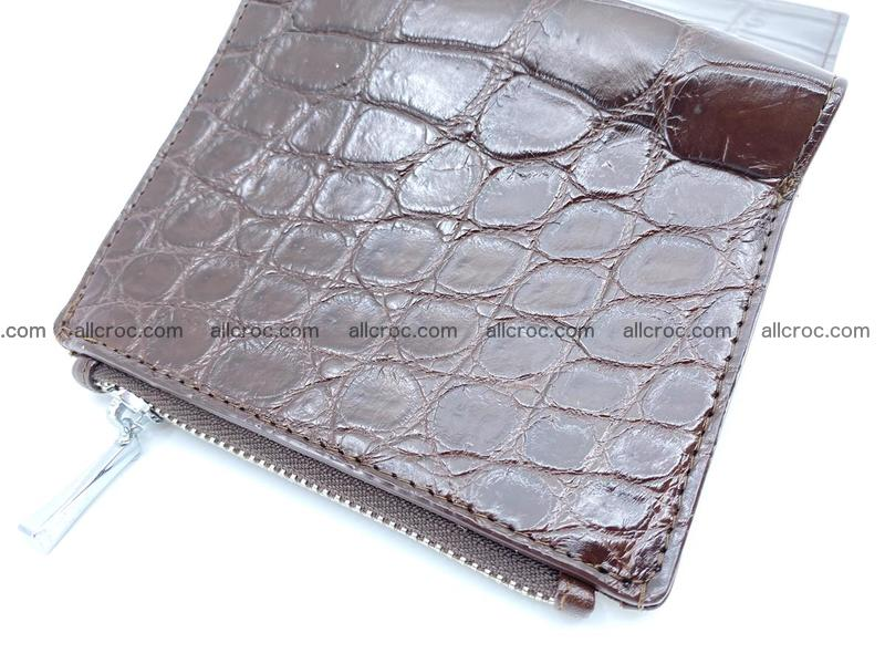 Crocodile leather vertical wallet HK 632