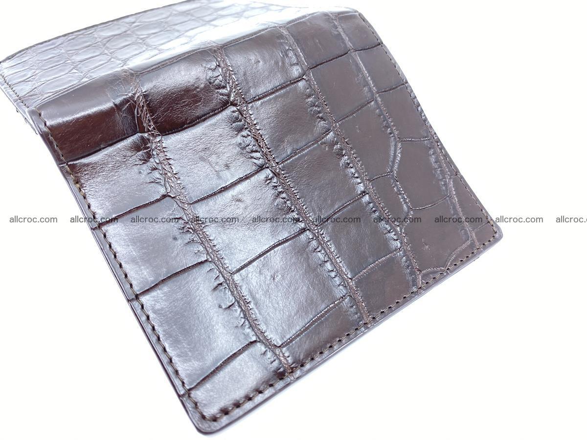Crocodile leather vertical wallet HK 632 Foto 4