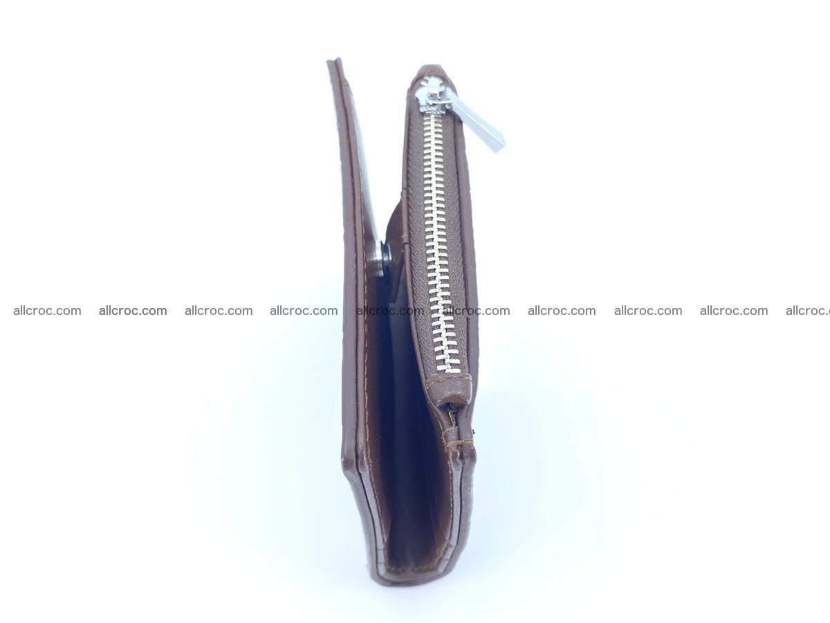 Crocodile leather vertical wallet HK 632 Foto 6