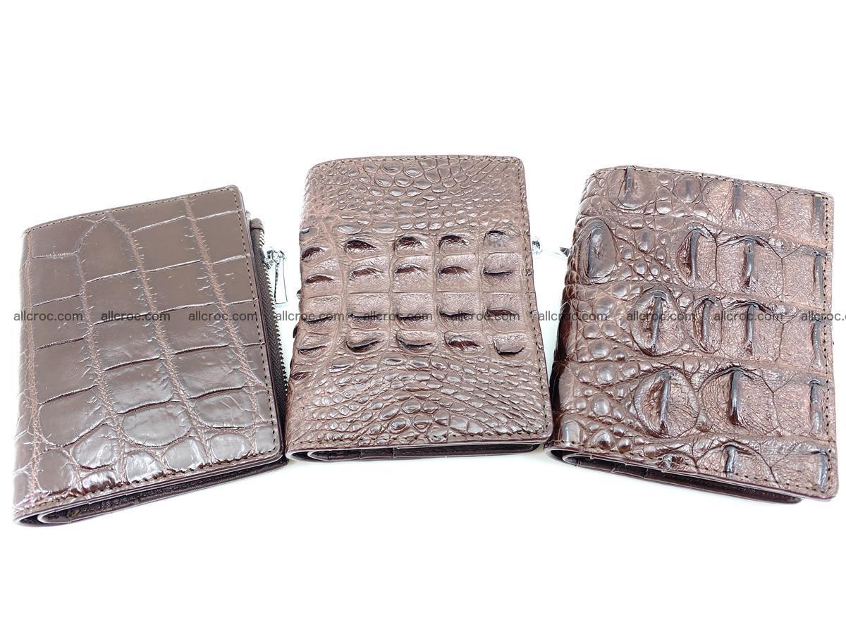 Crocodile leather vertical wallet HK 632 Foto 8