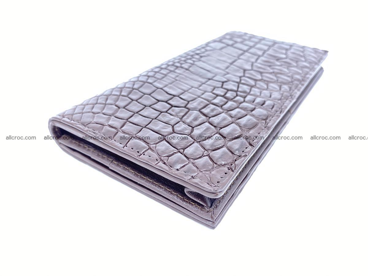 bifold long wallet from genuine crocodile skin 489 Foto 0