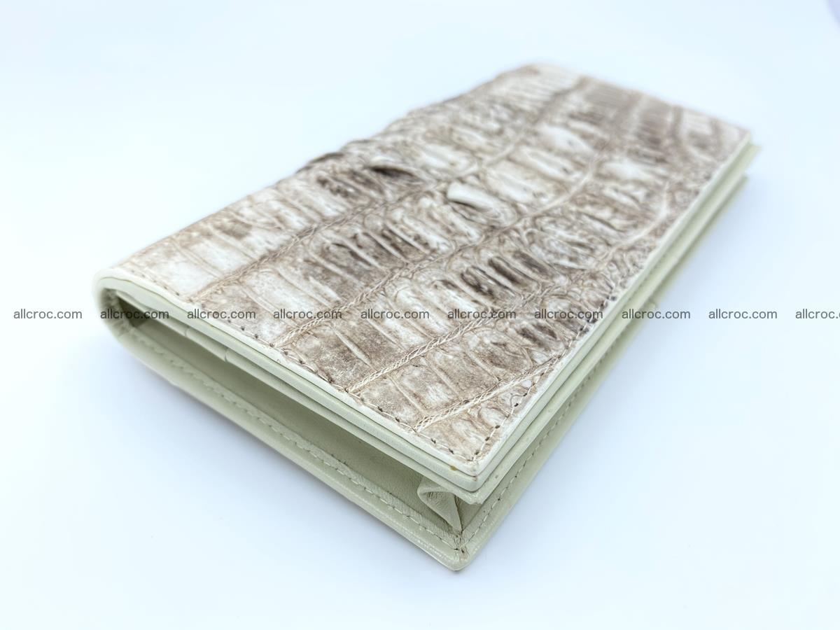 bifold long wallet from genuine crocodile skin 496 Foto 0