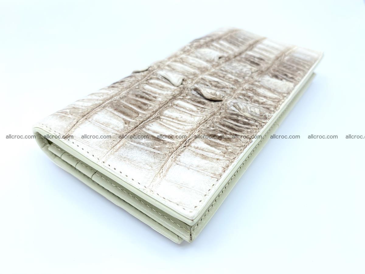 bifold long wallet from genuine crocodile skin 496 Foto 1