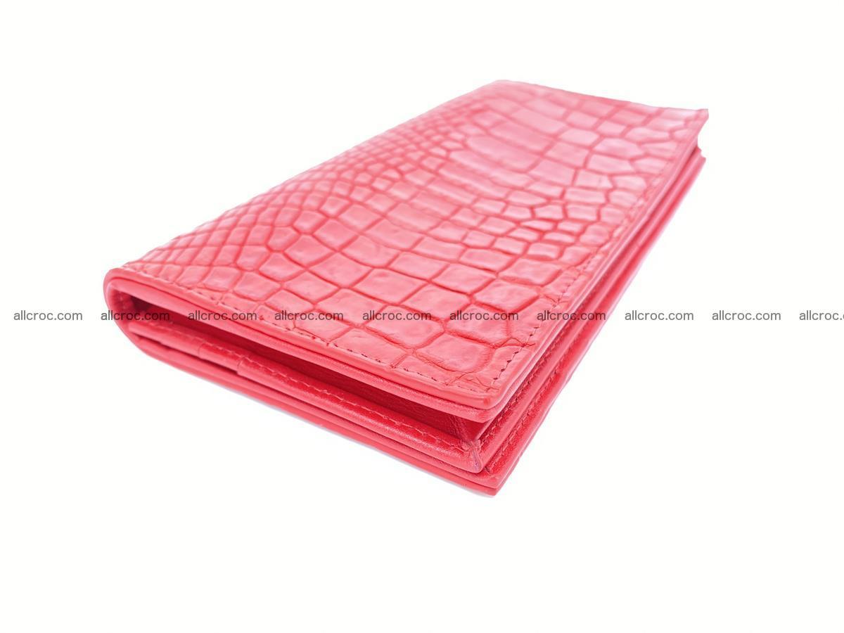 bifold long wallet from genuine crocodile skin 493 Foto 0