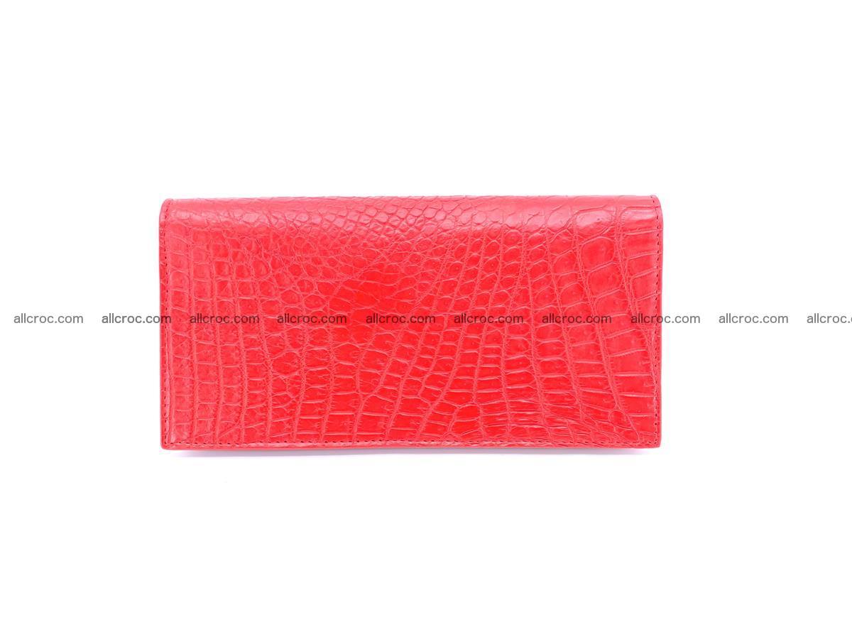 bifold long wallet from genuine crocodile skin 493 Foto 1