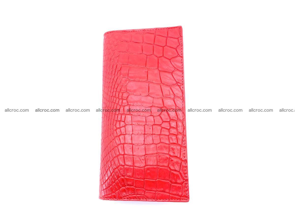 bifold long wallet from genuine crocodile skin 493 Foto 3