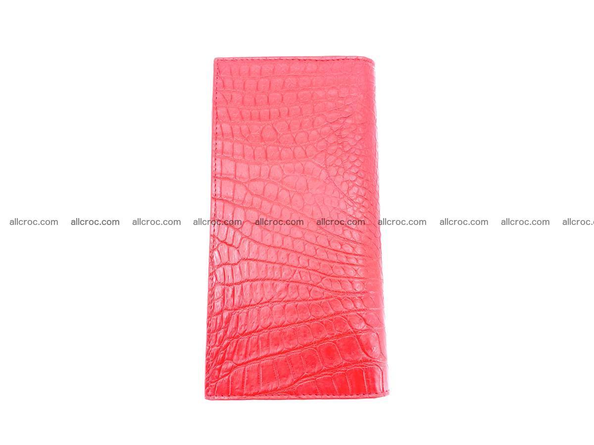 bifold long wallet from genuine crocodile skin 493 Foto 4
