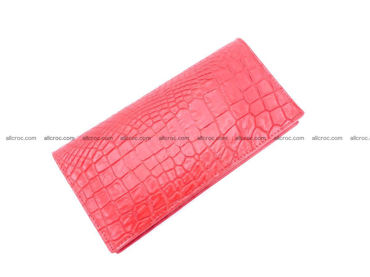 bifold long wallet from genuine crocodile skin 493 Foto 5