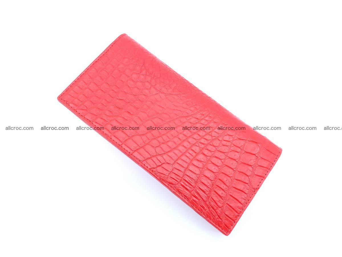 bifold long wallet from genuine crocodile skin 493 Foto 6