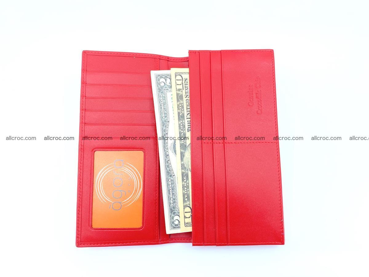 bifold long wallet from genuine crocodile skin 493 Foto 7