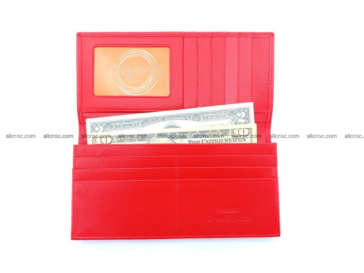 bifold long wallet from genuine crocodile skin 493 Foto 8